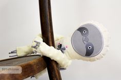 sloth with embroidery / Břichopas toys