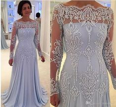 Light Sky Blue Lace Mother's Dresses Long Sleeves Lace Applique Floor Length Mother of the Bride Dress Wedding Party Gown Groom Mother Dress Mother of the Bride Dresses Plus Size Mother Gowns Mother's Dresses Online with $185.15/Piece on Romaloud's Store | DHgate.com