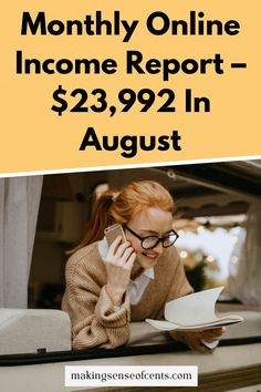Monthly Online Income Report – $23,992 In August