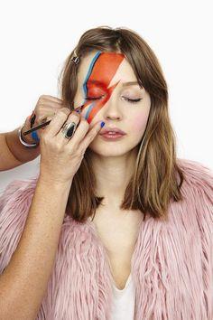Ziggy Stardust Alladin Sane make up tutorial