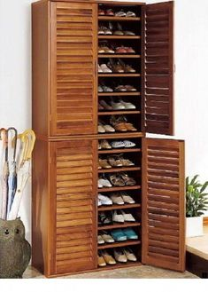 Shoe Storage Ideas To Keep Your Footwear Safe And Sound! 30 Great Shoe Storage Ideas To Keep Your Footwear Safe And Sound! 30 Great Shoe Storage Ideas To Keep Your Footwear Safe And Sound! 67 Mind-Blowing Under Stair Powder Room Designs To Inspire You Shoe Cabinet Entryway, Tall Cabinet Storage, Storage Cabinets, Shoe Cabinet Design, Cabinet Doors, Entryway Shoe Storage, Entryway Closet, Door Entryway, Entryway Bench
