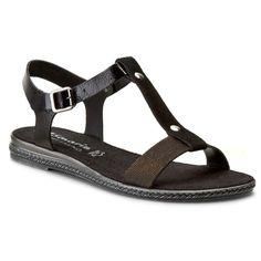 Sandały TAMARIS - 1-28149-26 Black Glam 091