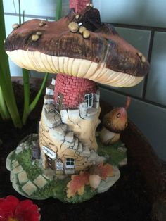 Realm Of The Mushroom Fairy House, The Stone Mason, Make Your Own Fairy Garden.