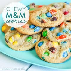 Need a cookie recipe that results in sugary perfection? These Chewy M&M Cookies taste SO GOOD and freeze well too!
