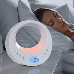 Radio, sound machine and lamp in one that lulls you to sleep and will wake you gently.