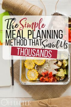 The simple meal planning method that saved us thousands. Finally, someone talks you through the process for simple meal planning. This is something that does not come naturally to me and it's so easy to just grab a pizza. I really want my family to have b Frugal Meals, Cheap Meals, Budget Meals, Easy Meals, Food Budget, Frugal Tips, Freezer Meals, Healthy Meal Prep, Healthy Eating
