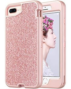 ULAK Sparkly Glitter Case for iPhone 8 Plus Case, iPhone 7 Plus Case, iPhone Plus Case inch for Girls, Luxury TPU Cover with Shiny Leather Heavy Duty Rugged Shockproof Protective Case, Green 6s Plus Case, Iphone 6 Plus Case, Iphone 7, Apple Iphone, Cute Cases, Cute Phone Cases, Country Iphone Cases, Apple Products, Speakers