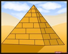 How to Draw an Egyptian Pyramid - Perspective Cycle 1 Cc Drawing, Fine Art Drawing, Drawing Lessons, Art Lessons, Drawing Guide, Drawing Ideas, Ancient Art, Ancient Egypt, Ancient History