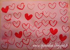 askartelua: ystävänpäivä, sydän, vessapaperirulla, maalaus crafts: Mother's Day, hearts, painting hantverk: mors dag, hjärtan, målning   http://ipanaaskartelua.blogspot.fi/2014/03/sydamia.html