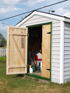 Shed doors easy ways to build your shed doors loop style for Double door shed plans