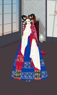 Queen Inhyeon (Dong yi) Dong Yi, Korean Hanbok, Korean Traditional, Disney Characters, Fictional Characters, Snow White, Wings, Women's Fashion, Queen