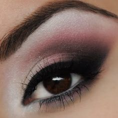 Get in the romantic mood with this rose smokey eye. Perfect for complementing gorgeous dark brown eyes.