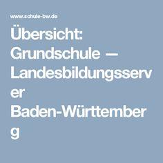 Übersicht: Grundschule — Landesbildungsserver Baden-Württemberg