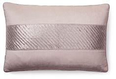 Chic 13x20 Velvet Pillow, Silver on OneKingsLane.com