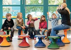 Hokki Active Seating Stool by VS America are wildly popular in all areas of a school. The convex base allows for movement in all directions. Classroom Design, School Classroom, Classroom Organization, Classroom Decor, Classroom Management, Classroom Seats, Bedroom Organization, Classroom Resources, Future Classroom