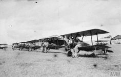 Line-up of Sopwith Camel biplanes of A Flight, No. 78 Squadron RFC THE ROYAL FLYING CORPS IN TH FIRST WORLD WAR