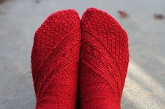 Smaug Socks by Claire Ellen  Published in Socks: There and Back Again Wimpwoman Designs Craft Knitting Category Feet / Legs → Socks → Mid-ca...
