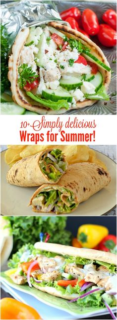 Simply Delicious Wraps for Summer. recipe. salad, healthy, sauce.