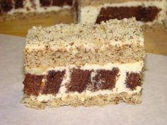 lahodný zákusok ,pekný v reze a vhodný do svadobných koláčikou. Cake Bars, Tiramisu, Cooking Recipes, Sweets, Meals, Baking, Ethnic Recipes, Food, Russian Recipes
