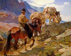 On the trail carl rungius 19th 20th century