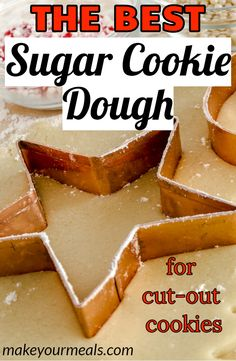 The absolute BEST sugar cookie recipe that makes perfect cut-out cookies! The absolute BEST sugar cookie recipe that makes perfect cut-out cookies! Simple Cookie Dough Recipe, Sugar Cookie Cutout Recipe, Cut Out Cookie Recipe, Cookie Dough Recipes, Best Sugar Cookies, Sugar Cookie Dough, Christmas Sugar Cookies, Cut Out Cookies, Sugar Cookies Recipe