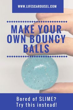 Learn to make your own DIY bouncy balls. This easy tutorial will show you how to make clear super bouncy balls. Just 3 common ingredients! Click now!