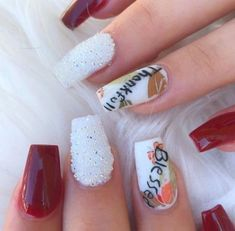 Thanksgiving Nails 2020 Hilarious Ideas And Tips Chrime Nails, Coffin Nails, Cute Nails, Happy Thanksgiving Day, Thanksgiving Nails, Nail Selection, Activities For Girls, Nail Time, Clear Nails