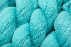 aqua blue yarn