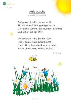 Gedicht Frühling Kinder Kindergarten Kita-Kiste