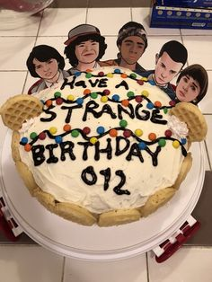 Stranger Things Birthday cake!  Just made this for my daughter's 12th birthday.
