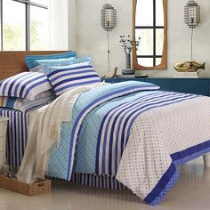 Free Shipping!Mercury Home Textile 100% Cotton Twill Printed Bedding Set With 4pcs Duvet Cover Bed Sheet Atalanta