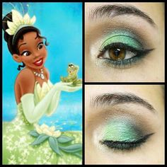 Makeup inspired by Tiana princess from The Princess and the Frog!!! #mua…