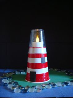 """Lighthouse Craft- """"let your light so shine"""" relief society give away craft - this will so easy and fun"""