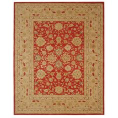 @Overstock - Accent your home or office decor with this elegant wool rug Mahal collection floor rug is crafted from 110-percent hand-spun wool Area rug features a casual pattern on a red backgroundhttp://www.overstock.com/Home-Garden/Handmade-Mahal-Ancestry-Red-Ivory-Wool-Rug-8-x-10/2561821/product.html?CID=214117 $382.49