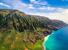 Na Pali Coast State Park, Hawaii:  This state park comprises 17 miles of rugged Kauai coastline. Hikers can walk along the cliffs and valleys covered in lush forests while taking in panoramic views of the Pacific.