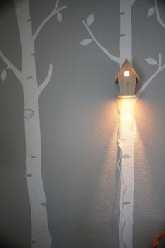 Avery Wall Hanging Birdhouse Lamp Modern by moderntreetopbaby #inspiration