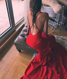 Backless Prom Dress Red Prom Dress Mermaid Prom Dress Fashion Prom Dress Sexy Party Dress New Style Evening Dress Backless Prom Dresses, Mermaid Prom Dresses, Sexy Dresses, Beautiful Dresses, Fashion Dresses, Formal Dresses, Beautiful Braids, Women's Fashion, Midi Dresses