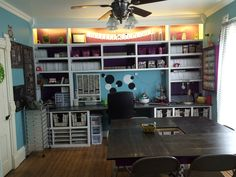 My new stamp room:) inked greeting by heather..