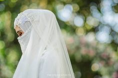 Image may contain: one or more people, wedding and outdoor Muslimah Wedding, Wedding Gowns, Wedding Day, Niqab Fashion, Akad Nikah, Hijabi Girl, Beautiful Bride, Bride Groom, Marie