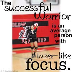 Volleyball Quotes - The successful warrior is an average person with laser-like focus. Volleyball Images, Volleyball Outfits, Volleyball Workouts, Volleyball Shirts, Softball Pictures, Volleyball Players, Beach Volleyball, Cheer Pictures, Motivational Volleyball Quotes