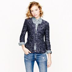 Bouclé peplum jacket - novelty - Women's blazers - J.Crew
