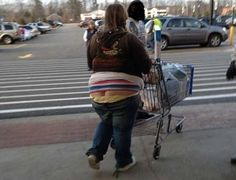 Pants Are Too Tight When They Get Stuck Below the Butt - Walmart Fashion Fail - Funny Pictures at Walmart