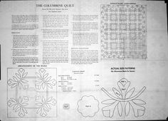 The Columbine Quilt - Patt # 106 - this pattern was copied from a newspaper clipping dated 1869 - no copyright date found
