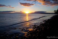 The calm, shallow ocean off the shores of Olowalu, Maui reflect a straight line to the sun and the horizon on a windless evening. Hawaii Pictures, Scenery Pictures, Hawaii Vacation, Maui Hawaii, West Maui, Hawaiian Islands, Moonlight, Ocean, Earth