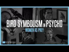 Dessertpin - Bird Symbolism in Psycho: Women as Prey Norman Bates, Classroom Walls, Alfred Hitchcock, Symbols, Bird, Films, Fictional Characters, Studying, Women