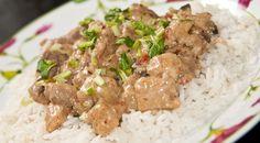 strogonoff de cerdo -> http://www.comedera.com/receta-de-strogonoff-de-cerdo/