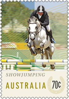 The Equestrian Events stamp issue pays tribute to the equestrian clubs around Australia which collectively house around 50,000 members. The issue highlights different disciplines, including dressage, showjumping and eventing. http://auspo.st/U93Xn6 #stampcollecting