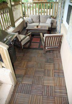 Small deck balcony ideas on pinterest small balconies for Condo balcony ideas