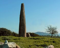 Menhir Monte Corru Tundu (Oristano), Sardinia | tra 3300 e 2500 a.C. | #neolithic #megalithic #protoantropomorfi #protostoria #archeologia