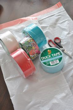 duck tape bag tutorial {girls camp craft} | Little Birdie Secrets
